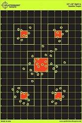 25 Pack - 12 X 18 Inch Sight In - Splatterburst Shooting Targets - Gun - Rifle - Pistol - Airsoft - Bb Gun