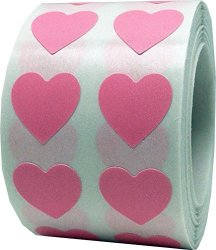 InStockLabels.com Pink Heart Stickers For Valentine's Day Crafting Scrapbooking 1 2 Inch 1 000 Adhesive Stickers