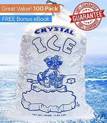 Crystal Clear Commercial Ice Bags 10 Lb With Drawstring - Extra Strength Reusable Puncture-proof - Fda Safe Food Grade Plastic