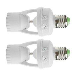 Jili Online E27 LED Lamp Bulb Light Holder Switch Infrared Pir Motion Sensor Detector Pack Of 2