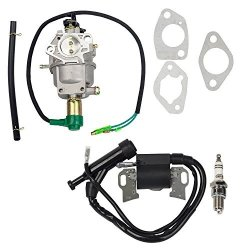 HIFROM Carburetor Gaskets Ignition Coil With Spark Plug For Honda GX390 5KW 13HP Chinese 188F Generator Engine Replacement Parts