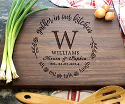 Personalized Cutting Boards Wooden Custom Engraved Chopping Board For Wedding Gift Bridal Shower Engagement Gifts Anniversary Gift Housewarming Gift Gift For Parents