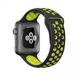 Zonabel Sport Strap For 38MM Apple Watch - Black & Yellow