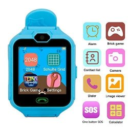 Changsha Hangang Technology Ltd Hangang Kids Cellphone Watch With Games Smart Watch Colorful Touch Screen Bracelet Wristband Watch With Games. Blue