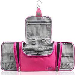"""TRAVANDO XXL Toiletry Bag For Women """"maxi"""" With Hanging Hook - Large Wash Bag - Many Pockets - Travel Set Travel Toiletry Kit Cosmetics"""