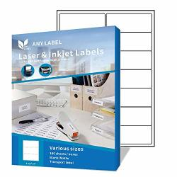 """Anylabel 14 Up 1-1 3"""" X 4"""" Easy Peel Shipping Address Labels For Laser ink Jet Printer Permanent Adhesive 100 Sheets 1400 Labels"""