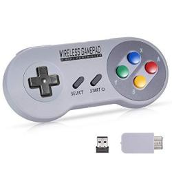 Urvoix 2.4G Wireless Rechargeable Joystick Controller Gamapad With Receiver For Nintendo Snes Classic Edition Nes Classic Edit