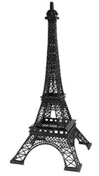 """DREAMPARTYCREATION 15"""" Tall Paris France Metal Eiffel Tower Stand Model For Table Decor Black"""