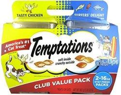 MARS Temptations Cat Treats Mix Ups Chicken & Surfers Delight Flavors 16 Oz 2PK
