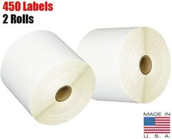 USA Imbaprice 2 Rolls Of 450 Label Made 4X6 Direct Thermal For Zebra 2844 ZP-450 ZP-500 ZP-505 Shipping Labels Perfect Roll For 1 Inch Core Thermal