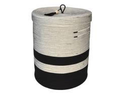 Mia Melange Large Liquorice Lidded Laundry Basket With Synthetic Base