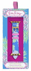 Lilly Pulitzer Leatherette Watch Band Sized To Fit 38MM & 40MM Smartwatches Compatible With Apple Watch Series 1 2 3 4 Swizzle Out
