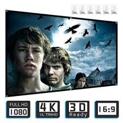 Projector Screen Tontion 100 Inch 16:9 HD Projection Screen Wide-angle Projection Screenwidescreen Portable Projection Moive Scr