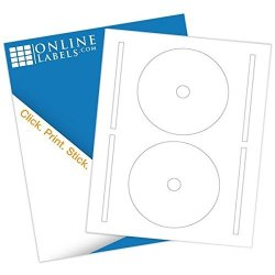 4.65 Inch Full-face Cd dvd Labels & Spine Label - Pack Of 500 Sets Of Cd dvd Stickers 250 Sheets - Inkjet laser Printer - Online Labels