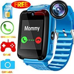 Kidaily Kids Smart Watch Phone - Speedtalk Sim Included Kids Smartwatch For 3-14 Year Boys Girls Touch Screen Camera Game Sport