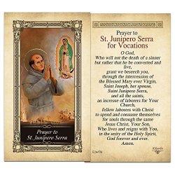 ShopCatholic St. Junipero Serra Laminated Holy Card - Pack Of 3