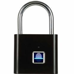 2020 Upgrade Smart Fingerprint Padlock Fingerprint Door Lock And Luggage Lock Smart Biometric Lock For Anti-theft Gym Lock Door Backpack Luggage Suitcase Bike Office