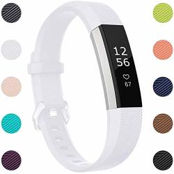 Maledan Compatible With Fitbit Alta Bands Replacement Band For Fitbit Alta Hr alta ace Small White