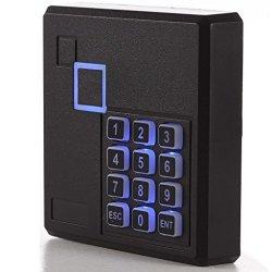 UHPPOTE Proximity Rfid Id Card Door Access Control Keypad Reader 125KHZ Wiegand 26 Bit Color Black