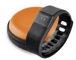 Kinetic Multi-functional Sports Watch With Orange Zipper Pouch - Black