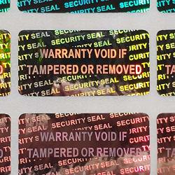 Security Seal Hologram Silver Tamper Evident Warranty Labels Stickers 15 Mm X 30 Mm- Dealimax Brand Silver 100