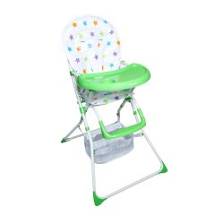 Mamakids Nibble Lite Feeding Chair - Green Star