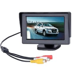 "4.3"" Inch 2 Channel Tft Lcd Car Rearview Sunshade Backup Monitor"