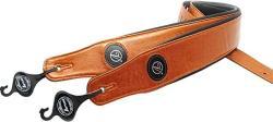 USA Vorson 090J91 Premium Leather Guitar Strap Caramel