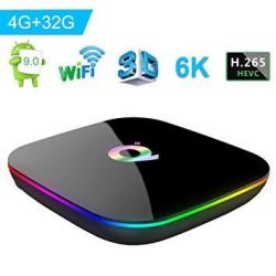 Turewell Q Plus Android Tv Box Android 9.0 Tv Box Chip H6 Quad-core CORTEX-A53 4GB RAM 32 Gb Rom Smart Tv Box Support 3D