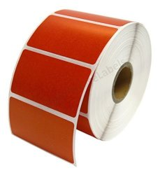 """HouseLabels 1 Roll 1 000 Red Labels Per Roll Zebra eltron-compatible Direct Thermal 2.25 X 1.25 Red Labels 2-1 4"""" X 1-1 4"""" -- Bpa Free"""