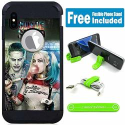 Limited Editions For Apple Iphone XS Iphone X Defender Rugged Hard Cover Case - Joker Harley Quinn Real Bubble