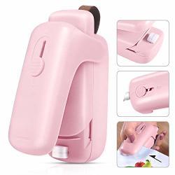 EZCO Bag Sealer MINI Handheld Bag Heat Vacuum Sealer 2 In 1 Heat Sealer & Cutter Portable Bag Resealer Machine Food Saver For Plastic