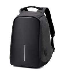 Anti-theft Unisex Laptop Backpack With USB Charging Port