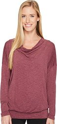 LUCY Women's To The Barre Long Sleeve Grape Wine Heather XL