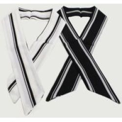 Joy Collectables White & Navy Stripe Neckerchief