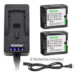 Kastar LED Super Fast Charger & Camcorder Battery X2 For Panasonic CGR-DU06 CGA-DU07 CGR-DU07 NV-GS330 GS508 MX500 PV-GS180 GS40