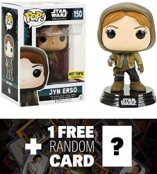 USAD Star Wars Jyn Erso Hot Topic Exclusive : Funko Pop X Vinyl Bobble-head Figure W Stand + 1 Free Official Trading Card Bundle 104500