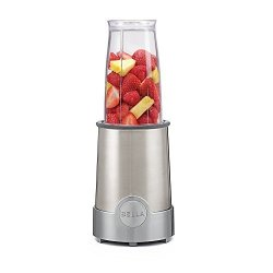 D&H Distributing - Sensio Products Bella Personal Size Rocket Blender 12 Piece Set Color Stainless Steel And Chrome