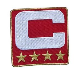 Wendy Red Captain C Patch 4 Gold Stars Sewing On For Jersey Football Baseball