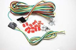 SKEMiDEX -- 25FT 4 Way Trailer Wiring Connection Kit Flat Wire Extension on