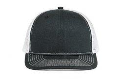 Cowbucker Adjustable Snapback Trucker Hat Meshback Cap Black white