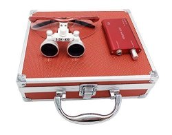 APHRODITE Aries Outlets YJ-0123467891011-L 3.5 X 420MM Working Distance Surgical Binocular Loupes Optical Glass With LED Head Li