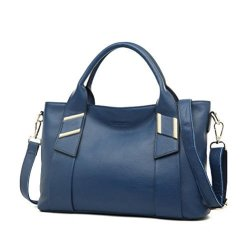 d223c1d8f3f4e JeHouze Womens Genuine Leather Handbags Shoulder Handbag Tote Top Handle Bag  Cross Body Bags Satchel For Ladies Purse Cobalt