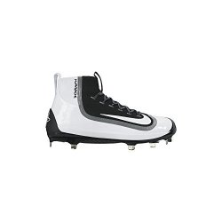 quality design 06649 4b4b2 Nike Air Huarache 2K Filth Elite Mid Mens Metal Baseball Cleats 12 Black  white