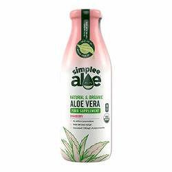 Simplee Aloe Natural & Organic Cranberry Aloe Vera Juice - 500ML 17.59 Fl Oz