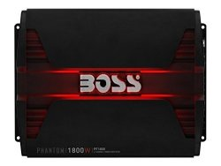 BOSS AUDIO PF1800 Phantom 1800 Watt 4 Channel 2 4 Ohm Stable Class A b Full Range Bridgeable Mosfet Car Amplifier With Remote Subwoofer Control