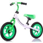 LITTLE BAMBINO Balance Bike With Adjustable Seat- Green And White