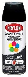 Krylon K05160107 Colormaster Paint + Primer Gloss Black 12 Oz.