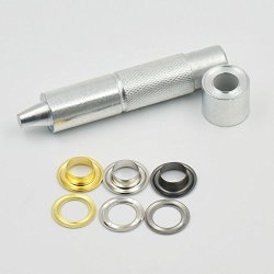 """Micoshop 100 Sets Grommets Eyelets 4 16"""" 3 10"""" 3 8"""" 1 2"""" 6MM 8MM 10MM 12MM + One Tool For Clothes Self Backing"""