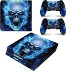 Decal Skin For PS4 Pro: Blue Skull
